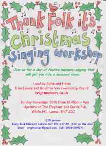 Thank Folk It's Christmas Poster Finished